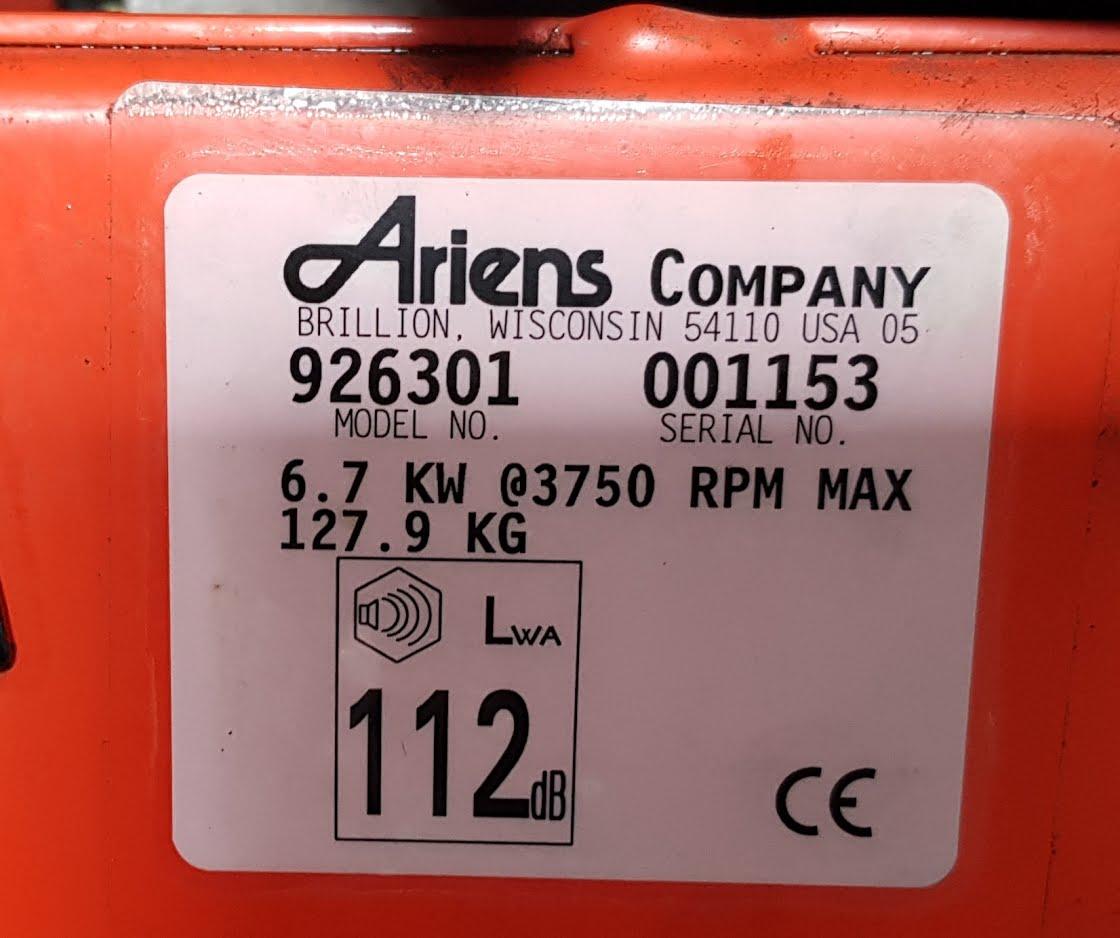 Ariens 926 Pro with Tecumseh 9 hp engine-ariens-datasticker.jpg