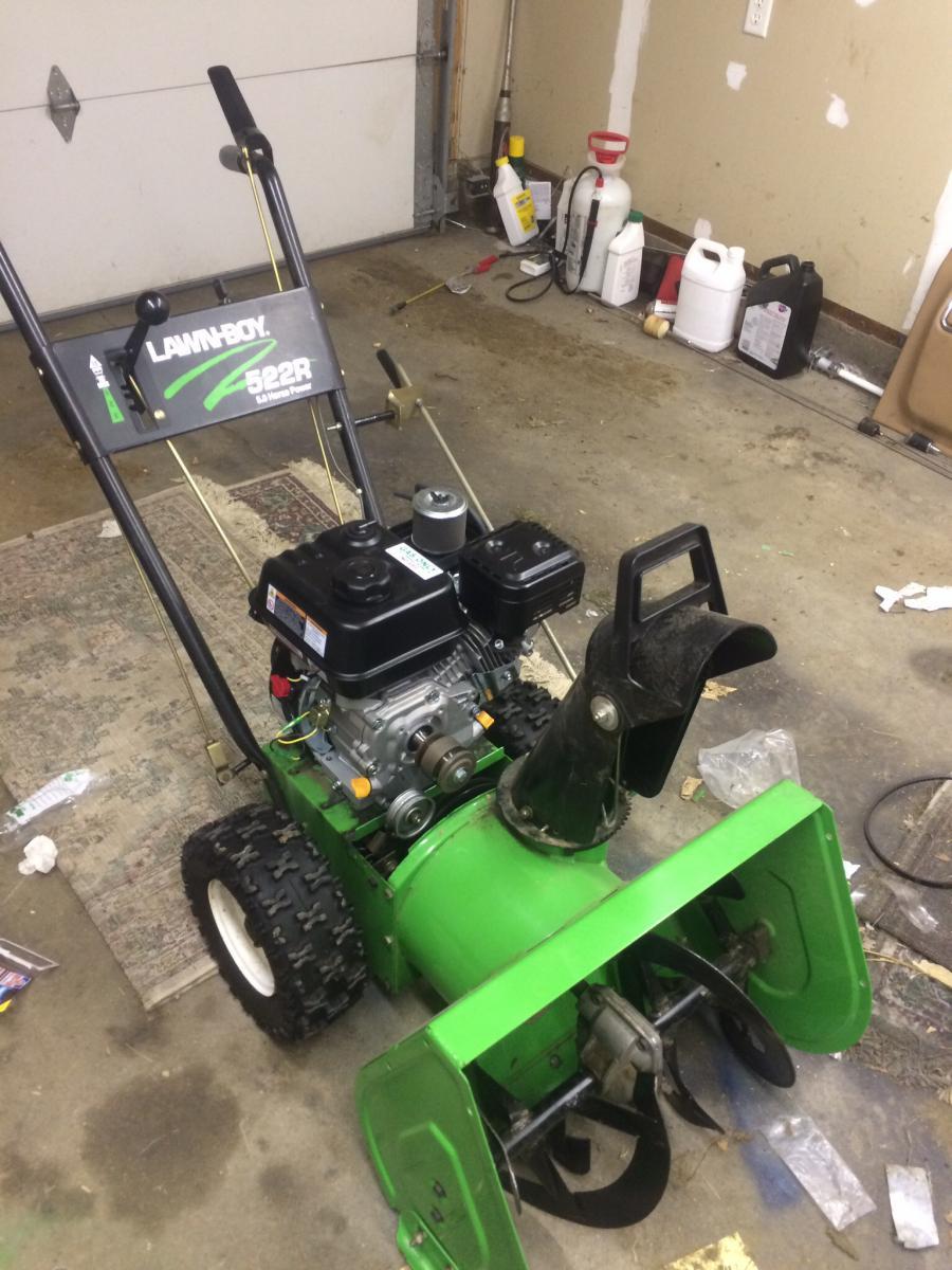 Lawn Boy 522r predator 212 install - Snowblower Forum : Snow Blower