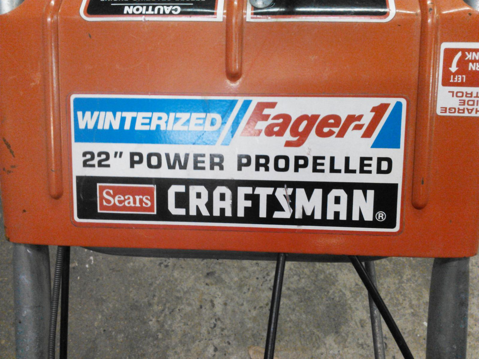 winterized/Eager-1 (craftsman) - Snowblower Forum : Snow Blower Forums